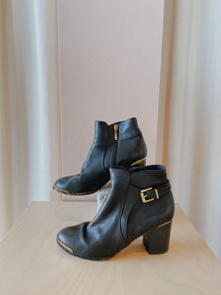Black Heeled Boots - Size 37
