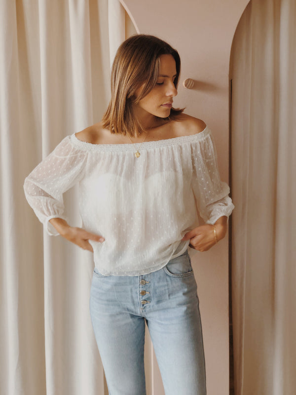Zara off the shoulder blouse - Size S
