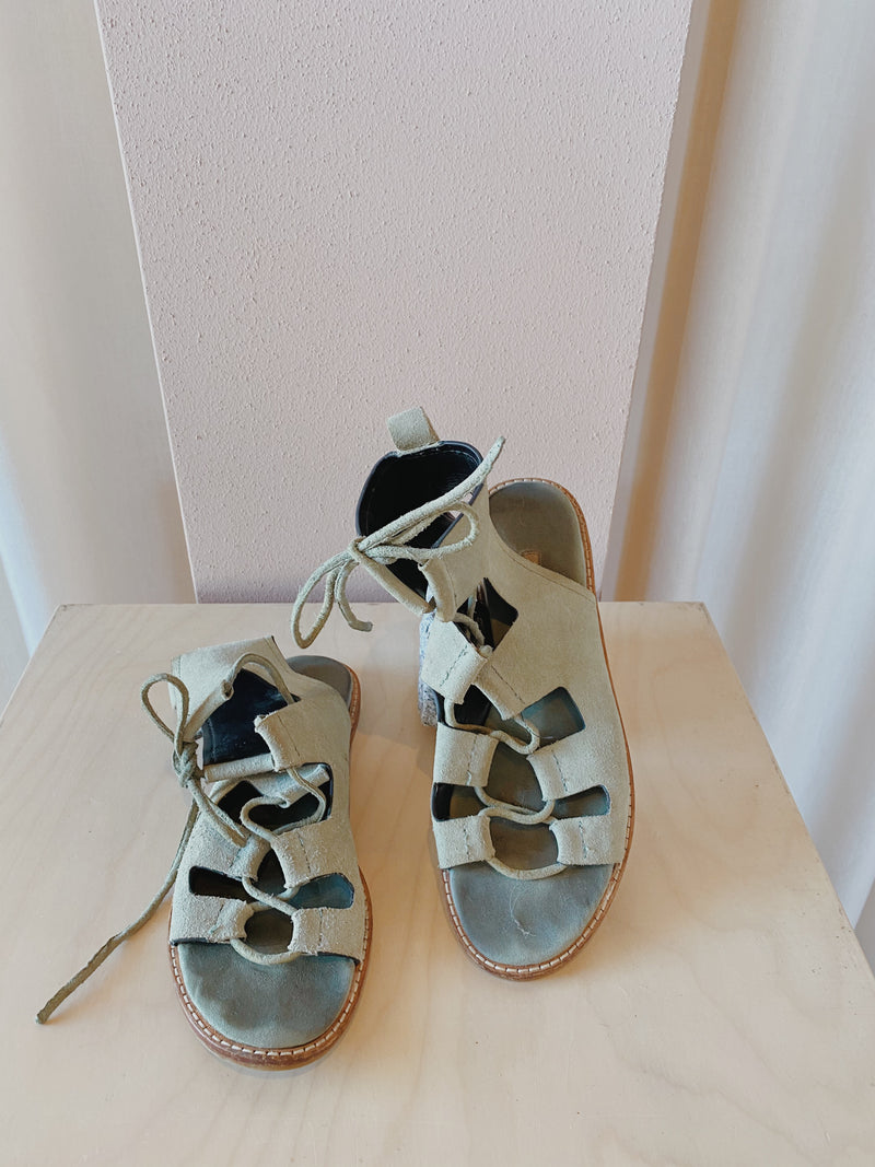 Zara Lace Up Sandals - Size 37