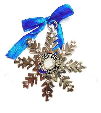 Memphis Ornament Record Snowflake