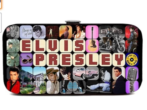 Elvis Presley Flat Wallet with Hinge Closure (Multi)