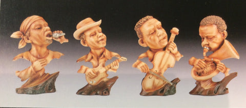 Jazz band Wooden  Chose Of Singer,Tuba player, Bass player or Guitar player