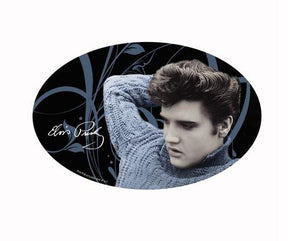 Sticker Elvis Oval Blue Sweater