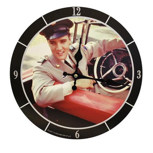 Clock Elvis Army in the Car