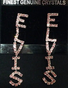 Earrings Elvis Pink