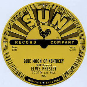 Sign Sun Records Blue Moon Elvis