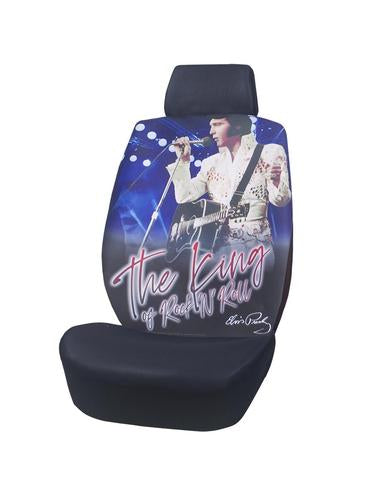 Car Seat Cover Elvis The King Blue White Jumpsuit