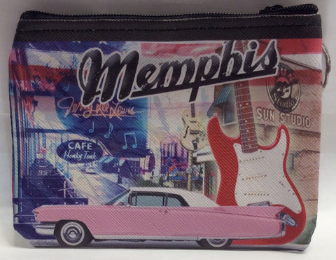 Coin purse Memphis Collage
