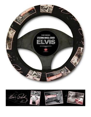 Steering Wheel Cover Elvis Pink Car W/ Music Notes
