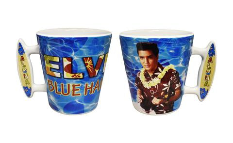 Mug Elvis Blue Hawaii Surf Board Handle