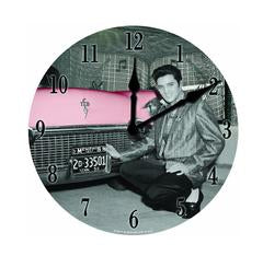 Clock Elvis  In Front of Car