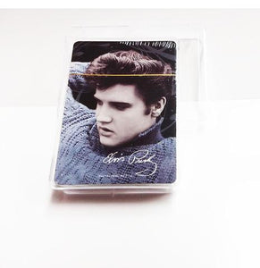 Playing Cards Elvis Blue Sweater