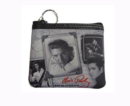 Coin Purse Elvis Frames W/Letter