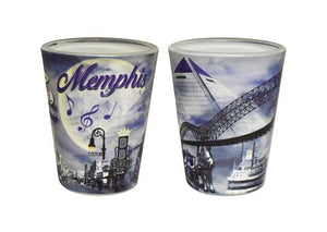 Shot Glass Memphis Smoky Night Collage