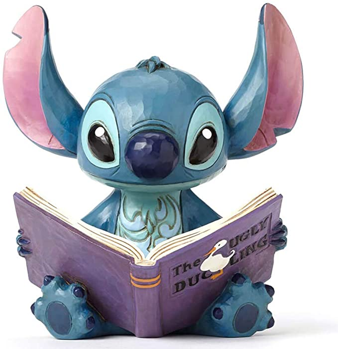 "Lilo and Stitch"" Stitch with a Storybook Stone Resin Figurine, 5.75"""