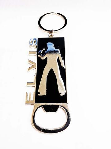 Elvis Key Chain Bottle Opener Silhouette