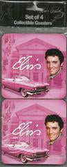 Coasters Elvis Pink w/ Guitars - 4/Set