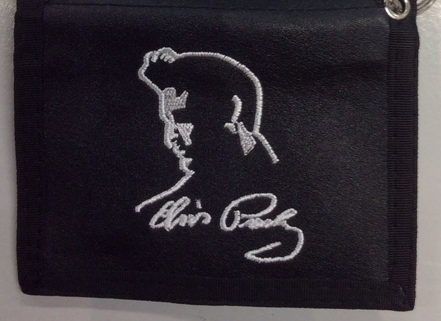 Wallet men's Elvis profile with Signature w/chain