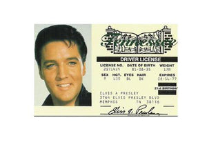 Driver License Elvis Presley