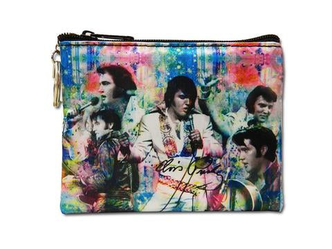 Coin Purse Elvis Colorful Collage