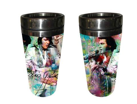 Thermo Mug Elvis Colorful Collage