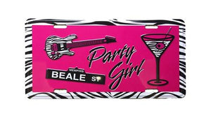 License Plate Memphis  Beale Street Party Girl