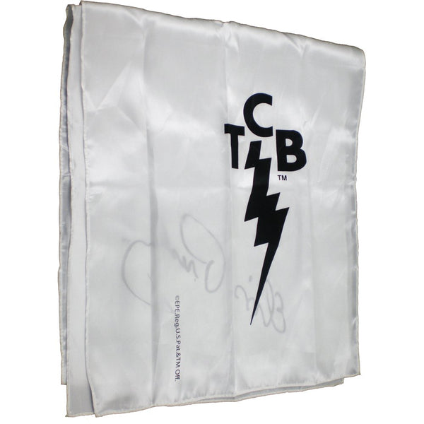 "Elvis Presley TCB Logo with Signature Ladies Scarf [White - 70"" x 15""]"