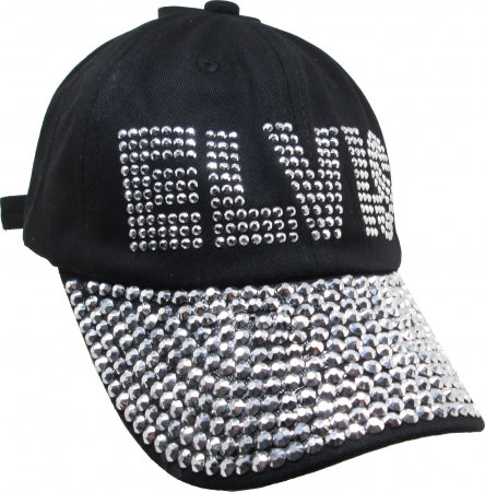 Cap Elvis Rhinestone Bling Relaxed Ladies