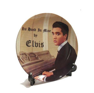 Plate Elvis His Hand In Mine W/Stand