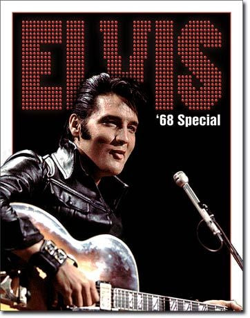 Tin Sign Elvis 68' Special