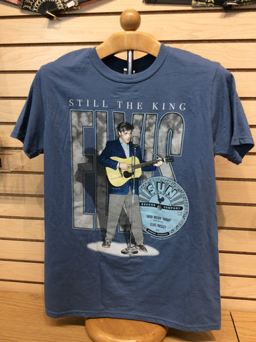 T-Shirt Elvis and Sun Blue Still the King