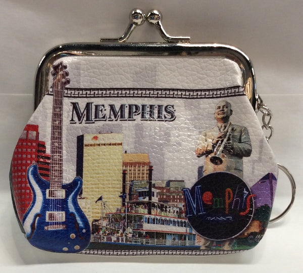 Coin purse Memphis Collage Guitar