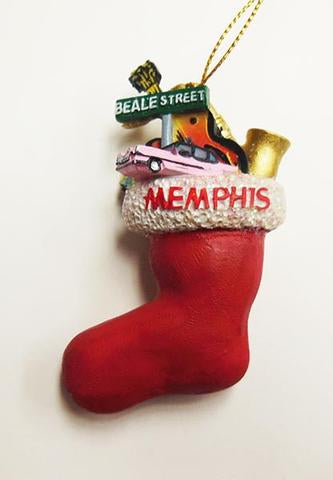 Memphis Ornament Stocking Cad