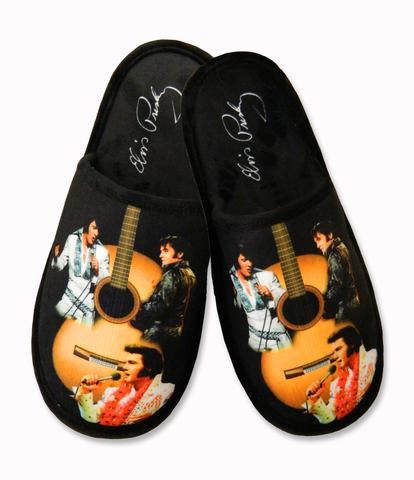 Elvis Slippers Guitar - One Size Fits Most -