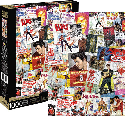 ELVIS MOVIE POSTER COLLAGE Puzzle