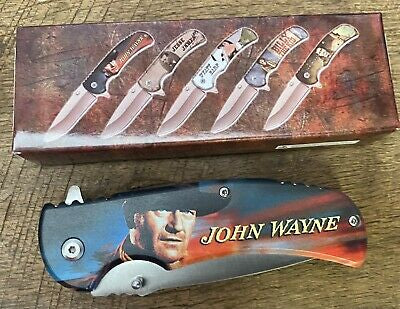 John Wayne Folding Pocket Knife 1/5 Great Collectible Knives High Quality
