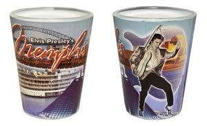 Shot Glass Elvis and Memphis