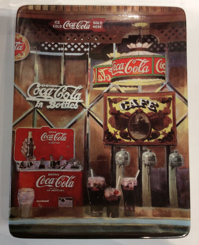 Coca Cola Collectors Square Plate Refreshing Reflections