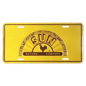 License Plate Sun Records Company 1/2 Logo