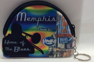 Coin purse Memphis Neon Oval