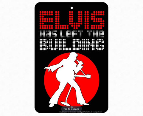 Elvis Building Sm. Parking Sign