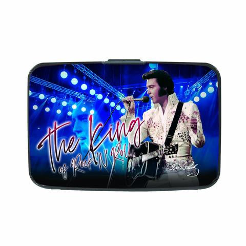 Credit Card Case Elvis Blue King