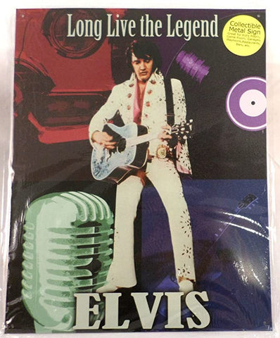 Elvis Presley Live Long The Legend Tin Sign