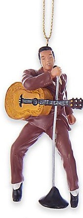 Ornament Elvis  in maroon suit