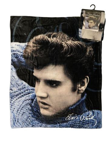Throw Elvis Blue Sweater