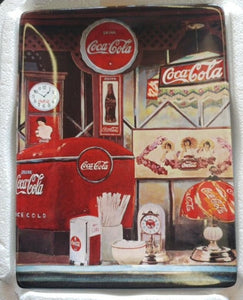 Coca Cola Collectors Square Plate Timeless Reflections