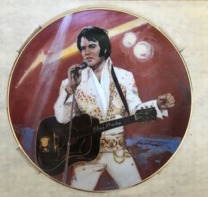 Elvis Collectors Plate Lonesome Tonight