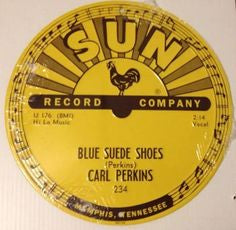 Sign Sun Records Blue Suede Shoes