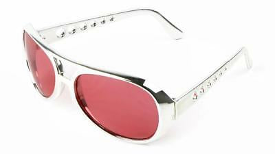Elvis Silver SUNGLASSES Colored Lens/ Costume