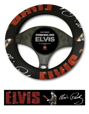 Steering Wheel Cover Elvis 68' Name in Lights